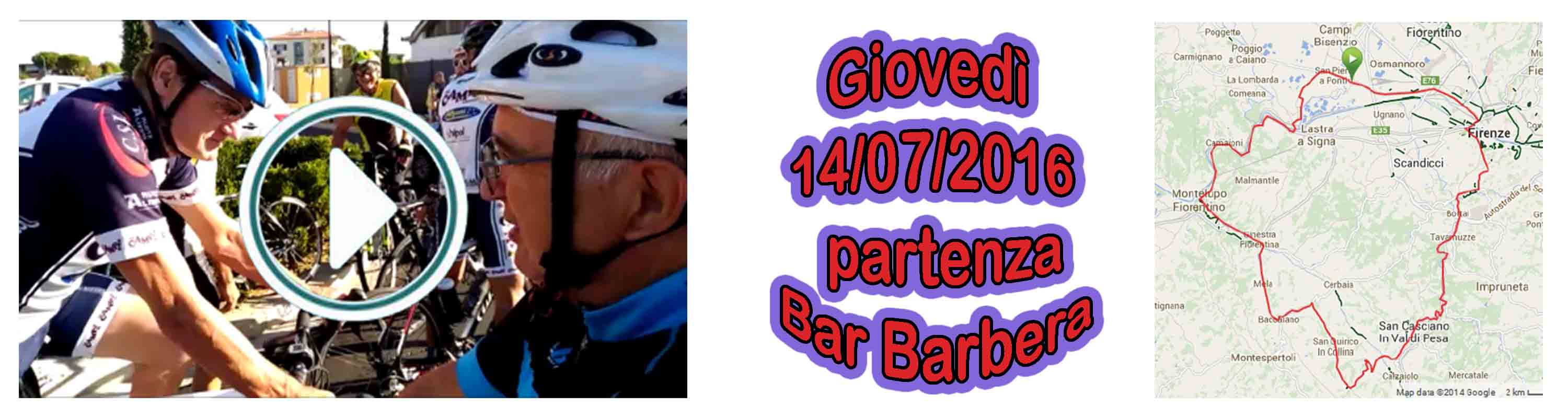 Banner Partenza dal Bar Barbera con video